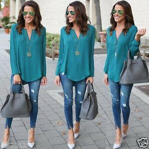 Fashion-Women-Blouse-Chiffon-Long-Sleeve-Ladies-T-Shirt-Casual-Loose-Shirt-Tops