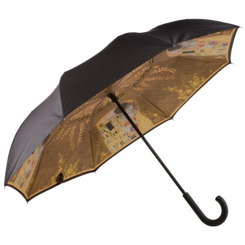 Goebel el beso Gustav Klimt paraguas bastón paraguas Upside Down apertura paraguas