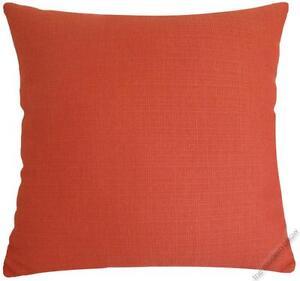 Orange Solid Metro Linen decorative throw pillow cover/case/cushion cover 20x20