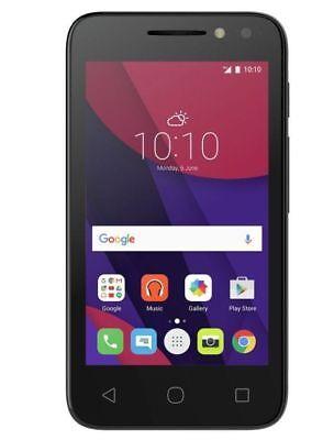 "Brand New Alcatel Pixi 4  4"" Smartphone Sim Free Unlocked - Black"
