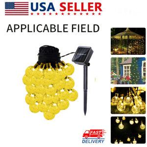 20FT-30LED-Solar-String-Ball-Lights-Outdoor-Garden-Yard-Lamp-Waterproof