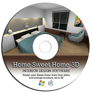 Sweet Home 3d Interior Design Cad Software Suite Microsoft Windows Apple Mac Cd Ebay