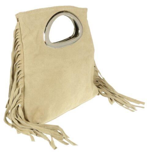 sac à franges véritable daim Poignée en italien de véritable ZpqxH5