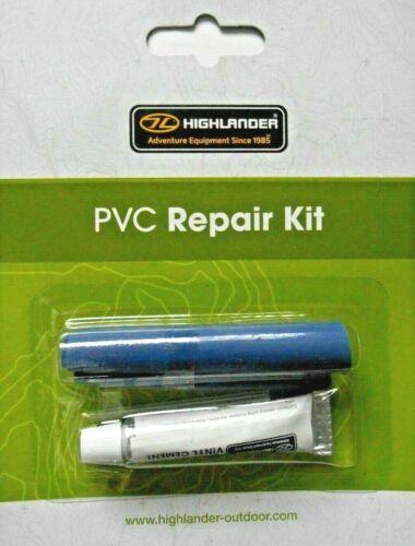 Highlander PVC Kit Réparation-Matelas Réparation etc... Gratuite au Royaume-Uni affranchissement.