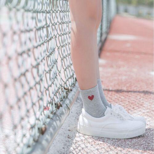 Kawaii Cute Women Heart Pattern Soft Breathable Ankle-High Casual Cotton Socks √