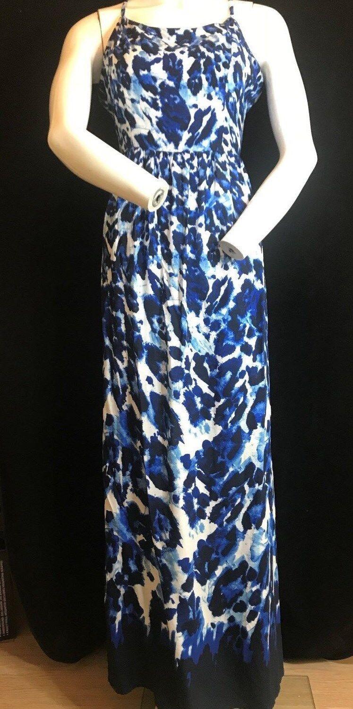 BNWT BIBA Lazela Cobalt Leopard Maxi Dress Size M .SAVE £££s