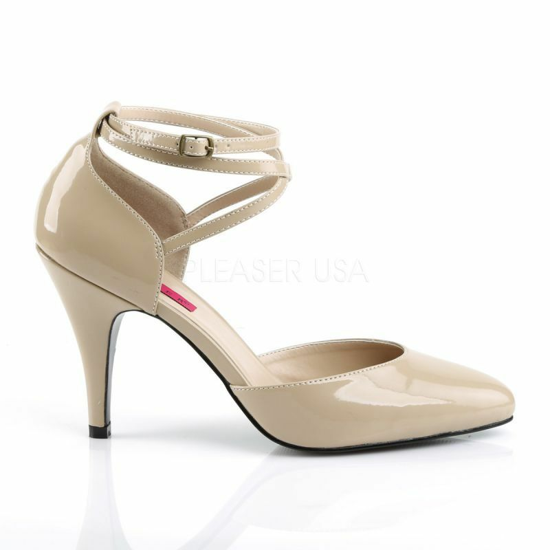 PLEASER DREAM-408 Pump Beige Lack Ankle-Strap Abendschuh Business Business Business B¸ro Gogo Hot 85564a