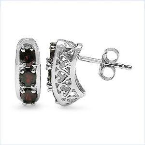 Ohrringe-Ohrstecker-mit-6-Granaten-925-Silber-Rhodiniert