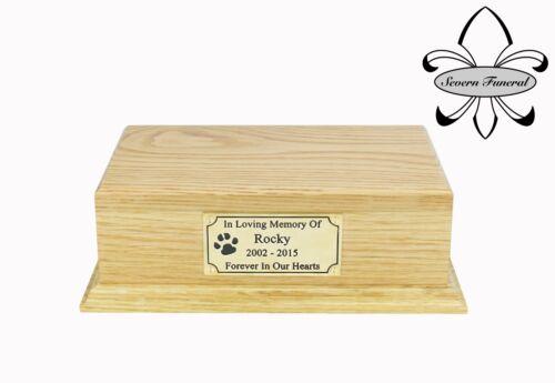 Casket Oak Dog Solid Wood Pet Cremation Urn Cat