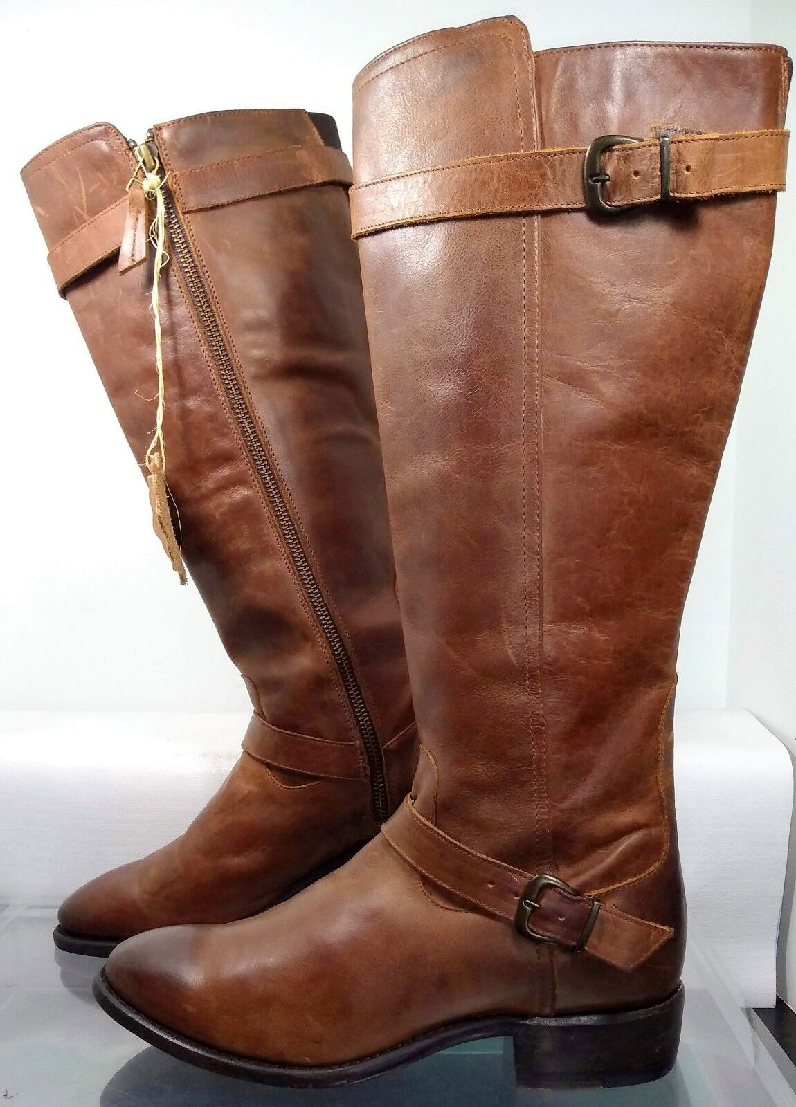 SONORA Double H Sydney SN 1350 Brown Leather Riding Boot US 7.5 Minimal Wear