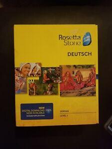 Rosetta Stone German Deutsch Level 1 Version 4 Brand New Sealed