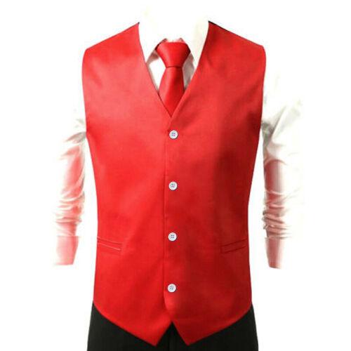 Ärmellos Weste Fest Knopfleiste Einreiher Freizeit Formell Anzug Männlich