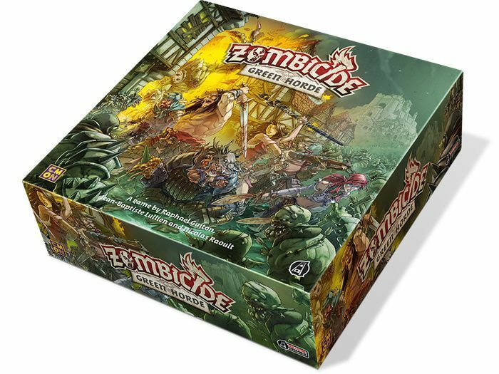 Asmodee Zombicide negro Plague verde Horde (Alemán) Guillotine Games Zombies