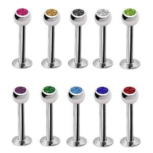 10pcs Acrylic Lip Rings Labret Nose Studs Piercing Ear Tragus Helix Earring