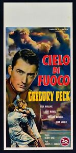 L143-Cielo-by-Fire-Twelve-o-039-Clock-High-Aereo-Gregory-Peck-Marlowe