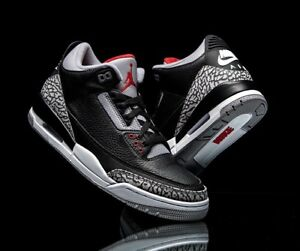 the latest 6f28f e7b38 Image is loading Nike-Air-Jordan-Retro-III-3-OG-BLACK-
