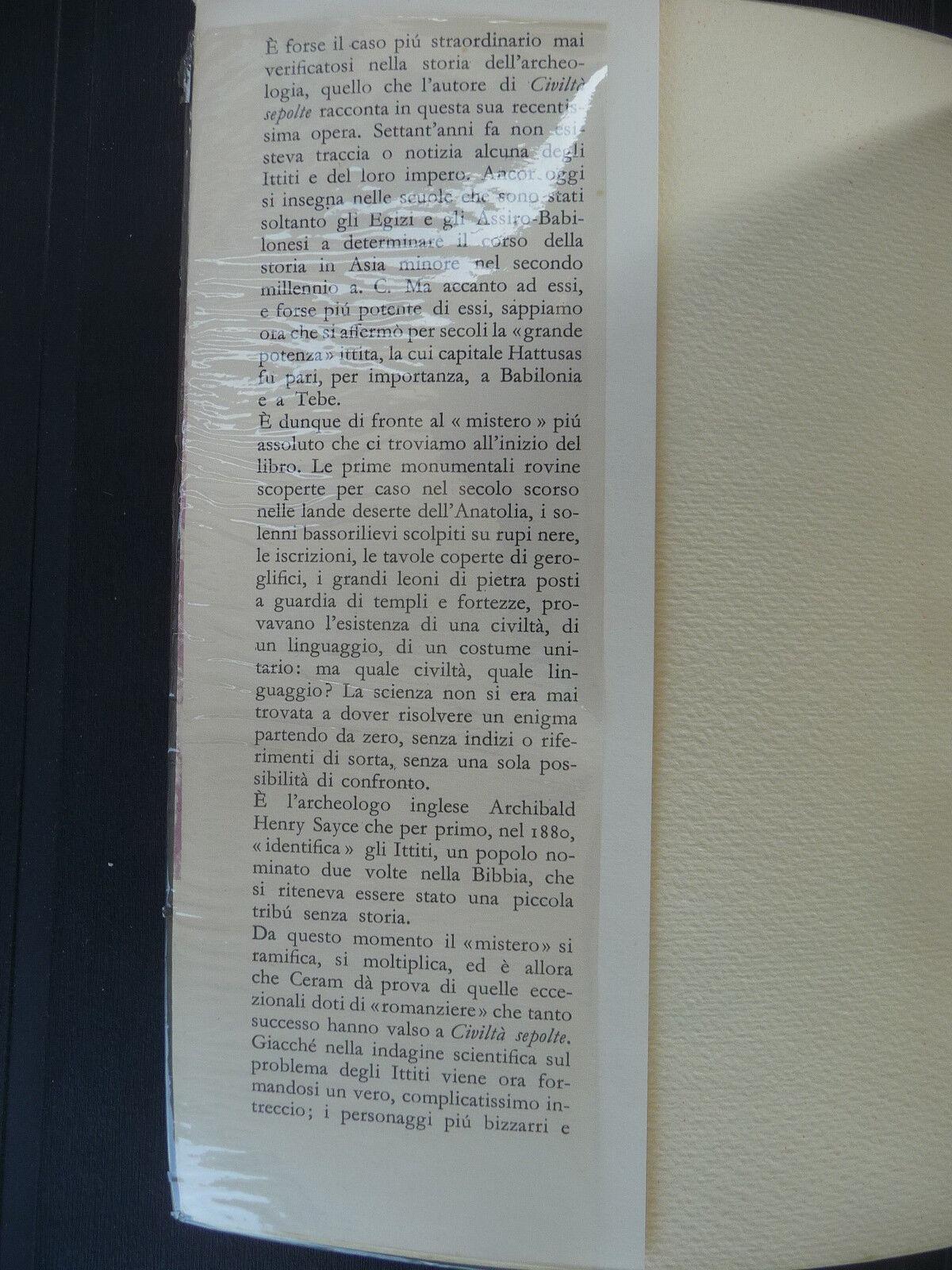 IL LIBRO DELLE RUPI CERAM EINAUDI 1956 II^ Ed. IL SEGUITO DI CIVILTA SEPOLTE