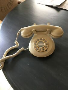 Image Is Loading MICROTEL RETRO KNIGHTSBRIDGE VINTAGE TELEPHONE WHITE WITH GOLD