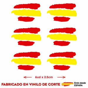 6-X-BANDERA-ESPANA-SPAIN-PEGATINA-ADHESIVO-VINILO-COCHE-MOTO-CASCO-TUNING-CORTE