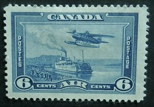 Canada 1938 6c airmail SG 371 Unused no gum cat£20