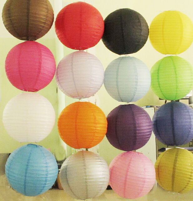 Paper Bed Room Light Lampshade Colorful Round Lantern Wedding Xmas Party Decor