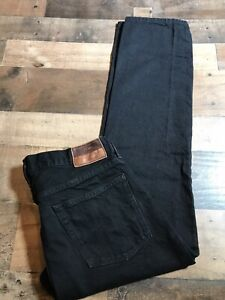 J-Crew-1040-Selvedge-Kaihara-Indigo-Denim-Black-Jeans-Japan-Size-32x29