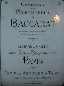 BACCARAT 1907-1908 Catalogue livre cristal cristalleries 168 PAGES PDF kRtGzqGm-09153851-810480498
