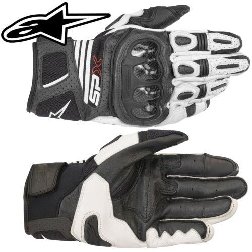 Alpinestars Gants SPX air carbone v2 Noir Blanc SP-X Moto Sport