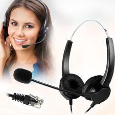 Agptek Hands- Call Center Noise Cancelling Corded Binaural Headset Headphone