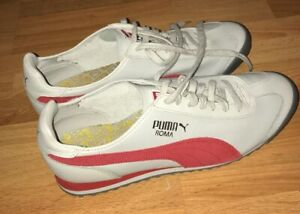 more photos eff42 7ac2d Details about PUMA ROMA MENS SHOES SNICKERS GRAY RED SUEDE VINTAGE US SIZE  12 USED ONCE