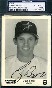 Craig-Biggio-Psa-Dna-Coa-Autograph-Astros-Photo-Hand-Signed-Authentic