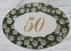 Details Zu Bogenschild Plakat Goldene Hochzeit Goldhochzeit Weiß Gold Krepprosen Zahl 50