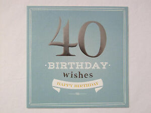 Image Is Loading 40 BIRTHDAY WISHES HAPPY 40TH GREETING