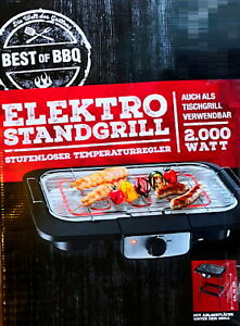 2 in 1 Elektrischer Grill BBQ Tischgrill Elektrogrill Gartengrill Balkongrill DE
