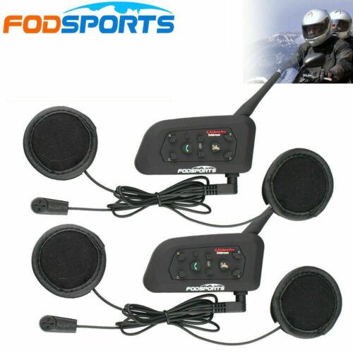 Fodsports V6 Pro 1200M Bluetooth Motorcycle Helmet Intercom BT Motorbike Headset