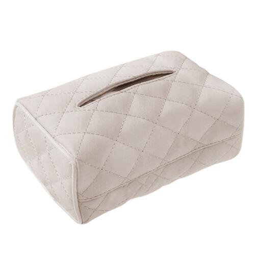 Details about  /JW/_ New Design Rectangle Tissue Box Holder Case Kleenex Cover Car Tissue Conta