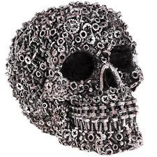 Industriedesign Totenkopf Var. 2/2 silber Dekofigur Schrauben Schädel skull