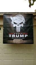 Donald Trump PUNISHER SKULL political president MAGA banner sign poster flag