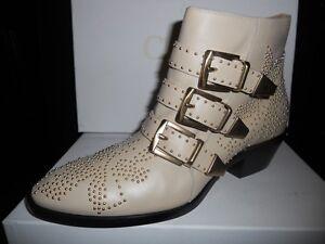 Chloe-Susannah-Susan-Susanna-Leather-Studded-Buckled-Ankle-Booties-Boots-Cream