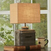 Miner's Lunchbox Lamp With 12 Shade By Park Designs/country Primitive Lamp