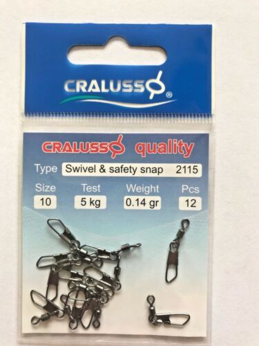 Cralusso Swivel /& Safety Snap