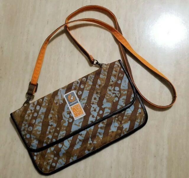 Ergobaby EUC Leather/Canvas Togo Print Umbra Bag Christy Turlington Burns strap