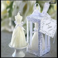 top White Beauty Bridal Bride Gown Dress Design Candle Wedding Party Decor cf