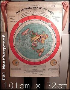 Flat earth poster print gleasons new standard world map 1892 image is loading flat earth poster print gleason 039 s new gumiabroncs Gallery