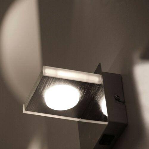 2er Set LED Wand Lampe Gästezimmer Küchen Chrom Beleuchtung 1-flammig EEK A+