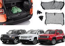 Envelope + Floor Trunk Cargo Nets For 2007-2017 Jeep Patriot Compass Renegade