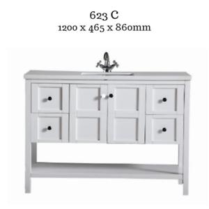 Hampton Shaker Style Bathroom Vanity Cabinet Unit 1200 Mm White Stone Top Ebay