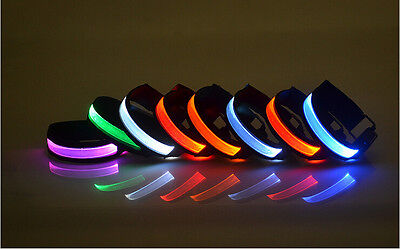 1X LED Safety Reflective Belt Strap Armband Night Outdoor Sports Cycling Running