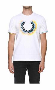 T-shirt-Fred-Perry-uomo-M7515-bianca-AI19