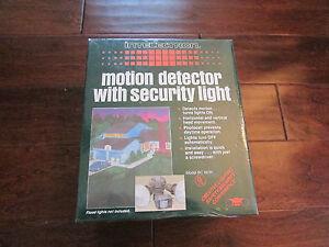 NIB-Vintage-Intelectron-BC-863K-300-Watt-Grey-Motion-Detector-Security-Light